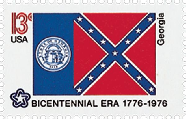 1976 13c State Flags: Georgia