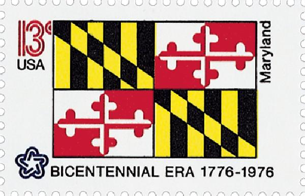 1976 13c State Flags: Maryland