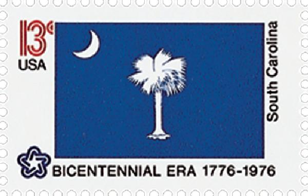 1976 13c State Flags: South Carolina