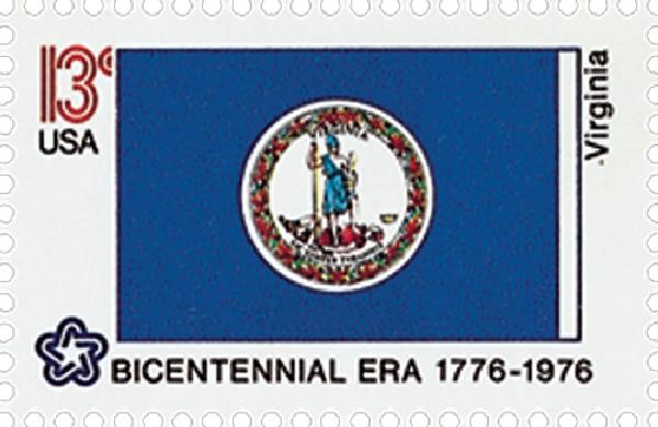 1976 13c State Flags: Virginia