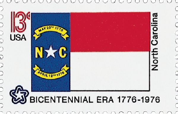 1976 13c State Flags: North Carolina