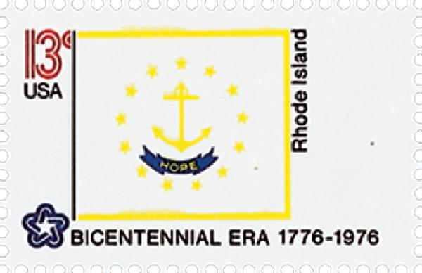 1976 13c State Flags: Rhode Island