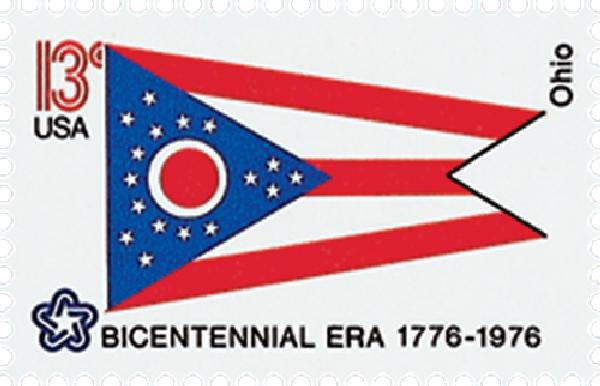 1976 13c State Flags: Ohio