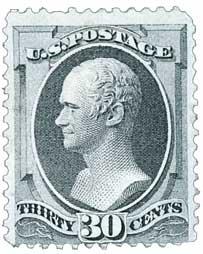 1873 30c Hamilton, gray black