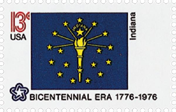1976 13c State Flags: Indiana