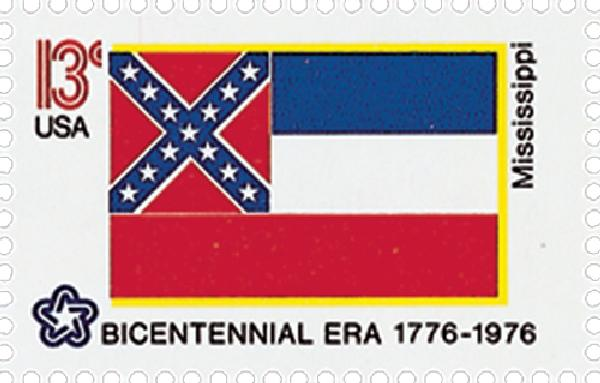 1976 13c State Flags: Mississippi