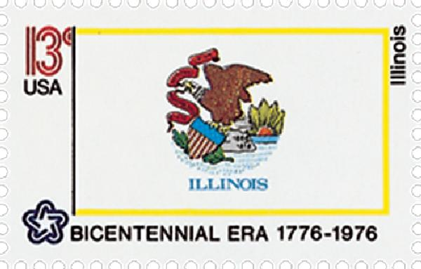 1976 13c State Flags: Illinois