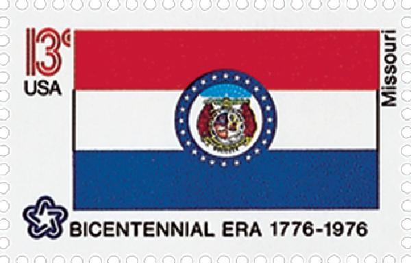 1976 13c State Flags: Missouri
