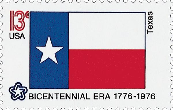 1976 13c State Flags: Texas