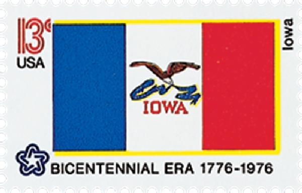 1976 13c State Flags: Iowa
