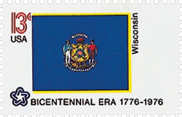 1976 13c State Flags: Wisconsin