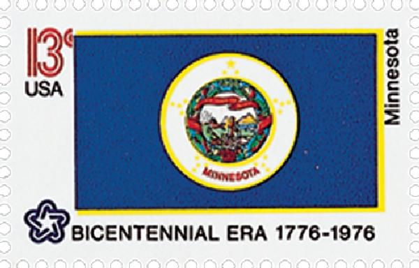 1976 13c State Flags: Minnesota
