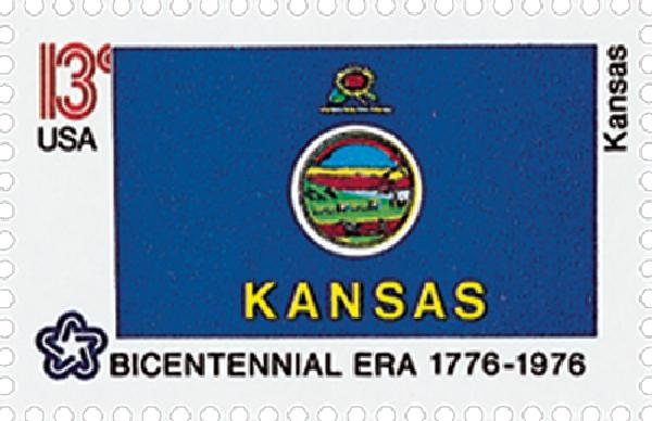 1976 13c State Flags: Kansas