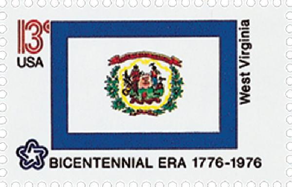 1976 13c State Flags: West Virginia