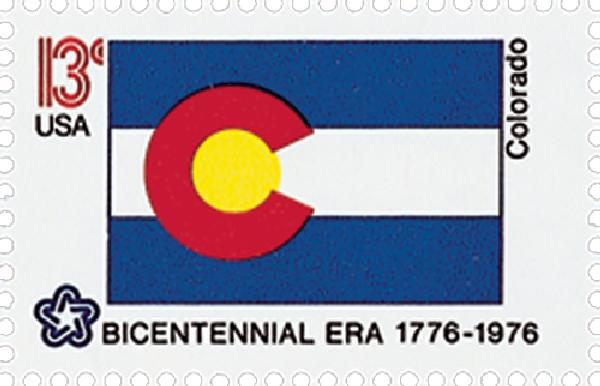 1976 13c State Flags: Colorado