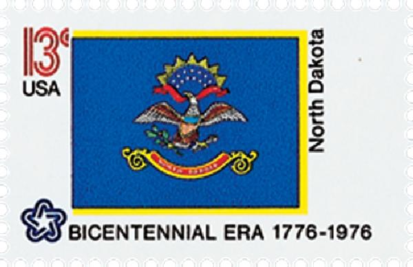U.S. #1671 – The North Dakota flag is based on a unit banner from the Philippine-American War.