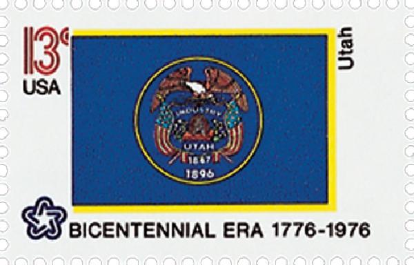 1976 13c State Flags: Utah