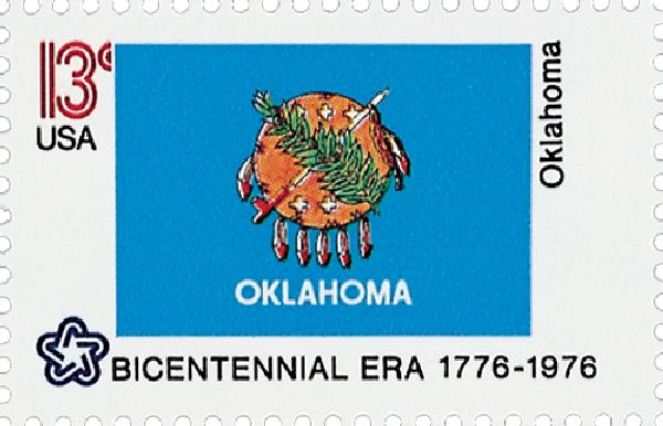 U.S. #1678 – The Oklahoma flag represents the history of more than 60 Native American groups.
