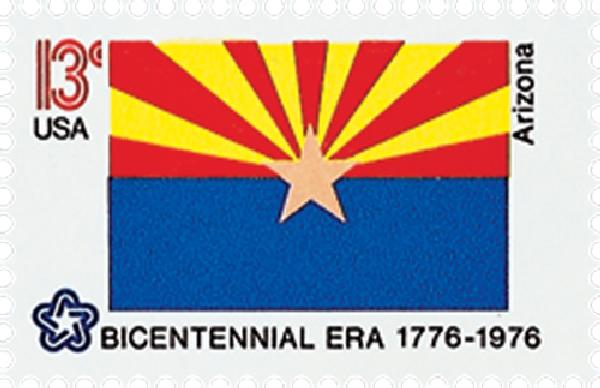 1976 13c Arizona State Flag