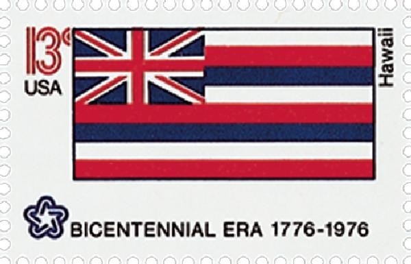 1976 13c State Flags: Hawaii