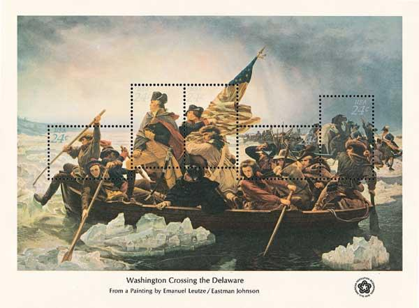 1976 Washington Crosses the Delaware S/S