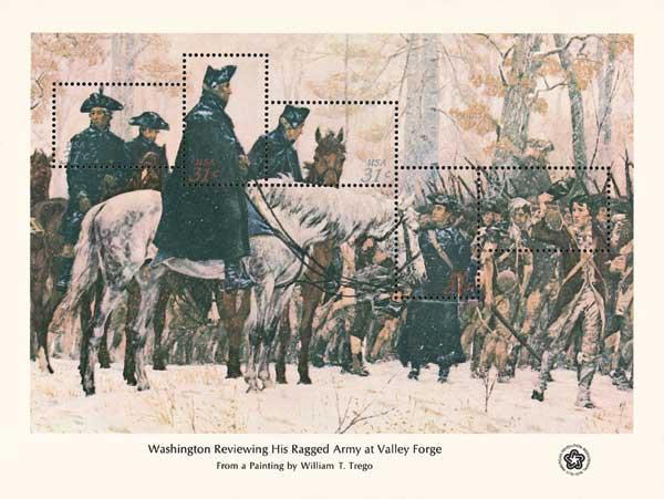 1976 Washington Review Army Valley Forge