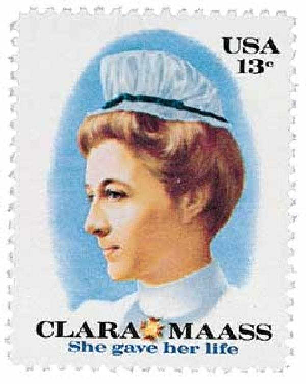 1976 13c Clara Maass For Sale At Mystic Stamp Company