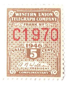1946 5c lt bister brn,perf 12.5,Williams