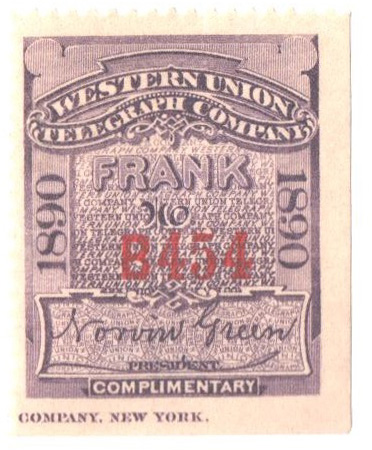 "1890 purple, perf 12, ""Green"""