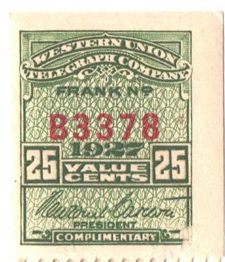 1927 25c green