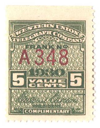 1930 5c olive green