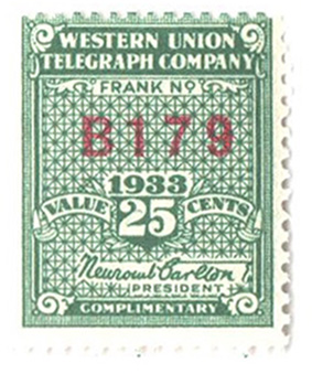 1933 25c green