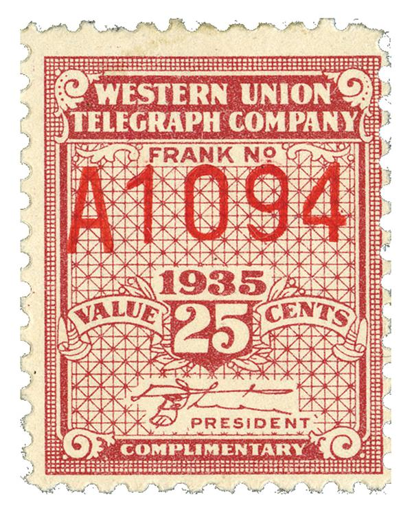 1935 25c lake