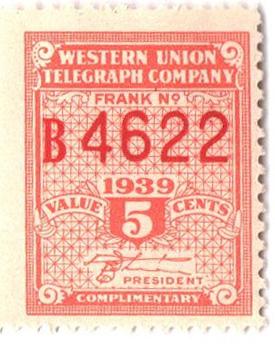 1939 5c dull verm., perf 12,12.5, White