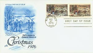 1976 Christmas on one cover