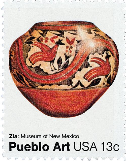 1977 13c Pueblo Pottery: Zia