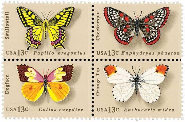 1977 13c Butterflies