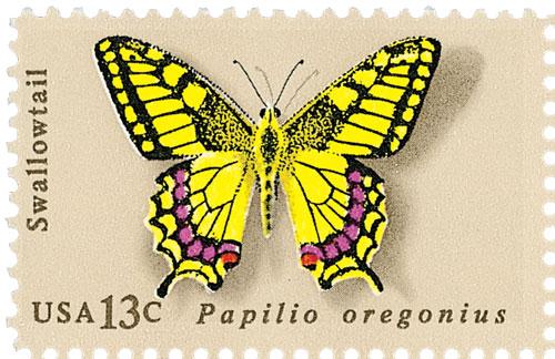 1977 13c Butterflies: Swallowtail
