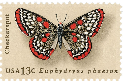 1977 13c Butterflies: Checkerspot