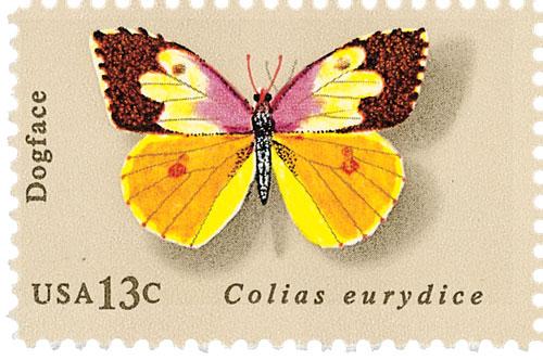 1977 13c Butterflies: Dogface