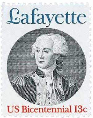 1977 13c Marquis de Lafayette