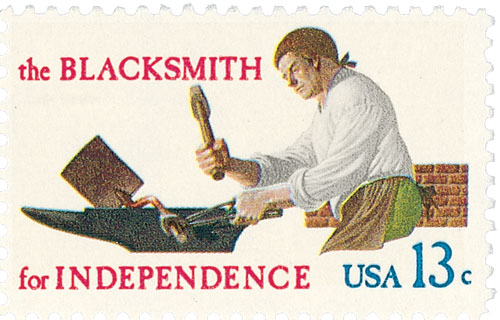 1977 13c Skilled Hands for Independence: Blacksmith