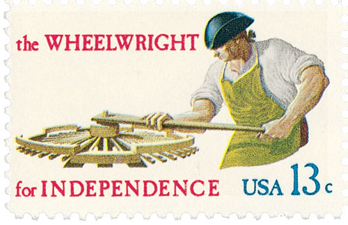 1977 13c Skilled Hands for Independence: Wheelwright