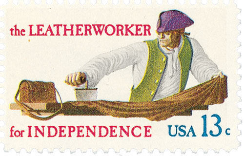 1977 13c Skilled Hands for Independence: Leatherworker