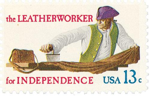 1977 13c Skilled Hands for Independence: Leatherworker