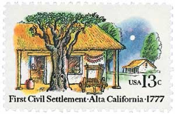 1977 13c First Civil Settlement: Alta, California