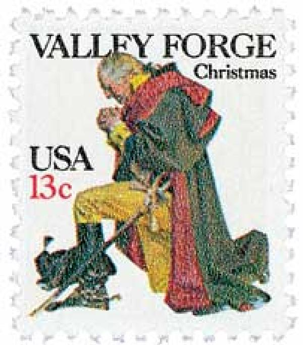 1977 13c Traditional Christmas: Washington at Valley Forge