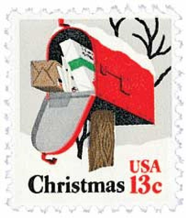 1977 13c Christmas, Rural Mail Box