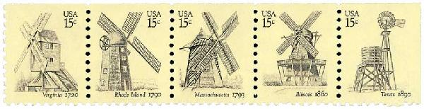 1980 15c USA Windmills