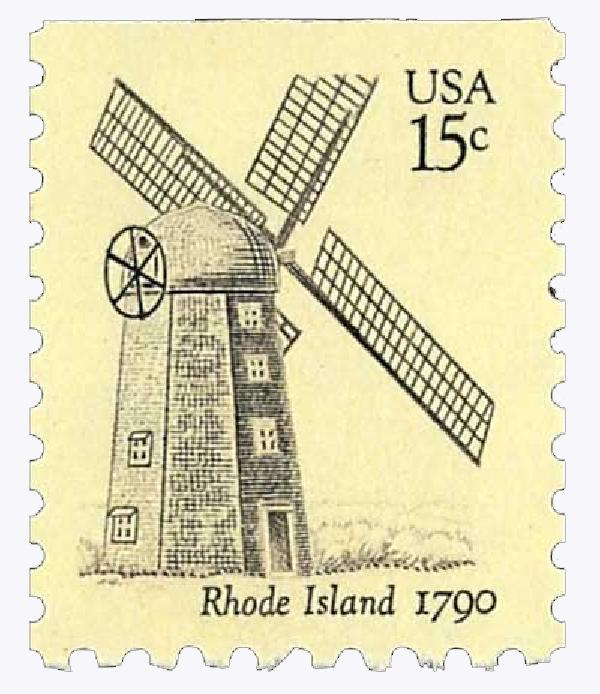 1980 USA Windmills, Rhode Island 15c